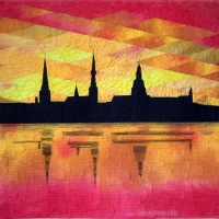 Sunset Over Riga